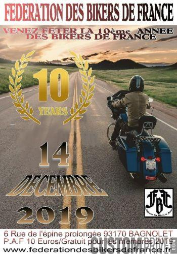 10 ème ANNEE DES BIKERS DE FRANCE