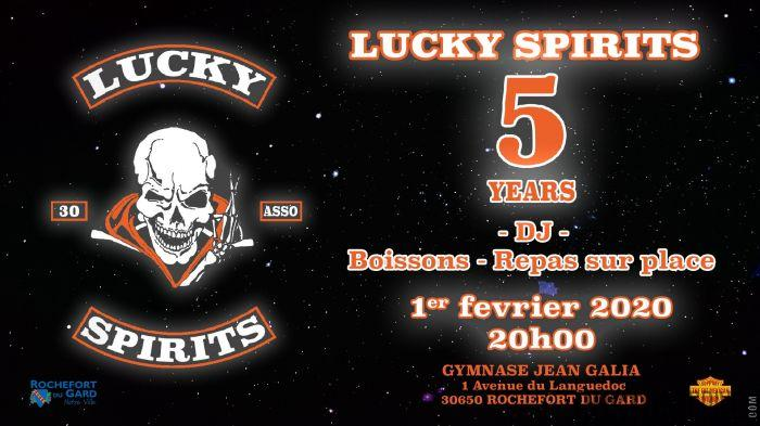 5 YEARS LUCKY SPIRITS