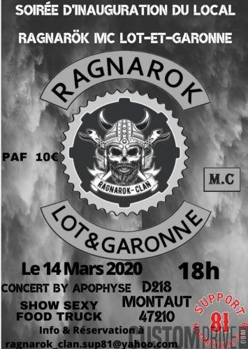 SOIREE D'INAUGURATION DU LOCAL RAGNAROK MC LOT ET GARONNE