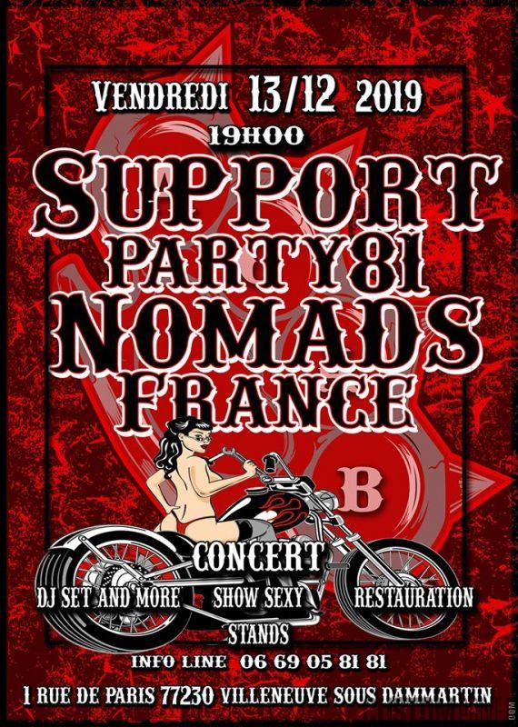 SUPPORT PARTY NOMADS FRANCE